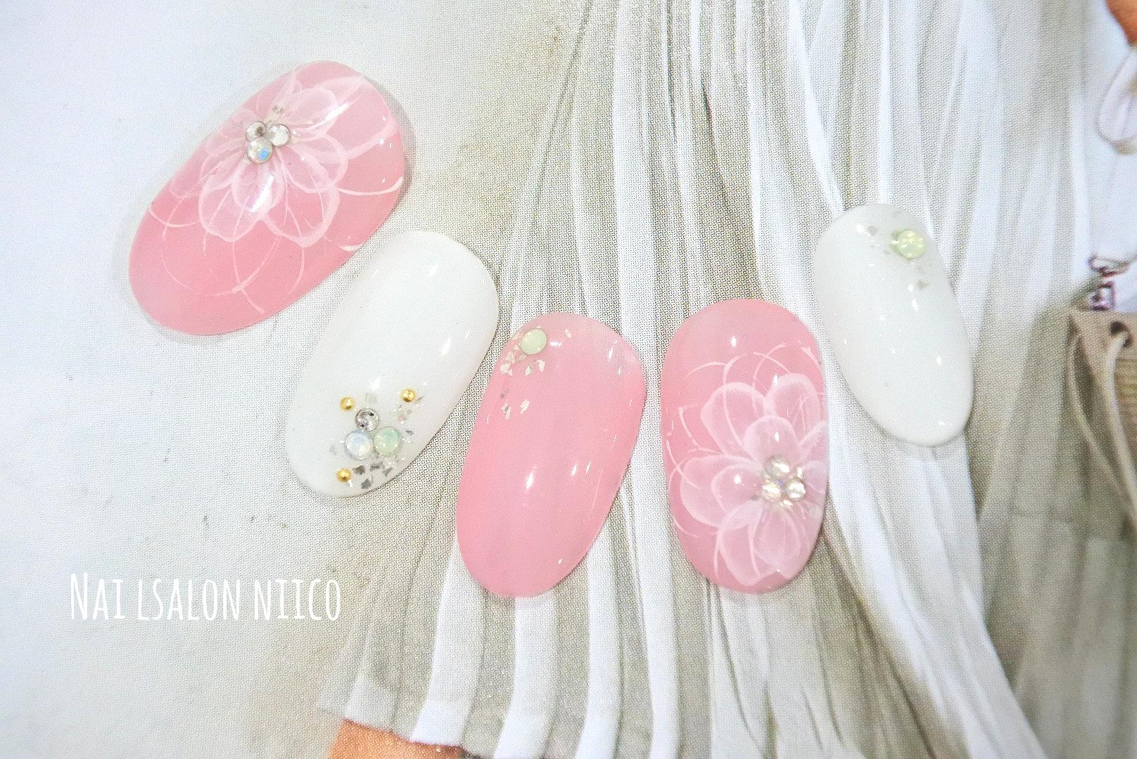2018・水彩フラワーピンク